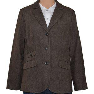 *Eddie Bauer Tag Sz 16 - 37S Wool Brown 3 Button S
